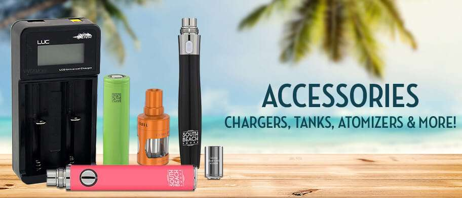 Accessories, Chargers, Tanks, Atomizers & More!